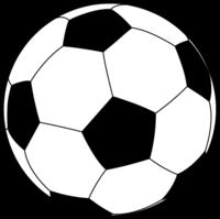 サッカーボール・陰影無しイラスト素材