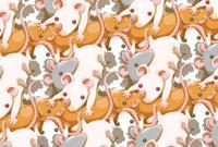 ネズミまみれ・背景素材・ヨコ