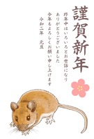 リアルめのネズミ年賀状