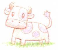 可愛い牛イラスト素材